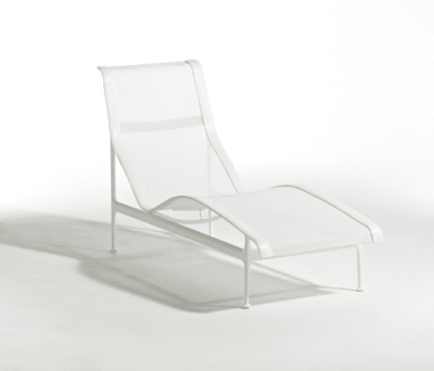 1966 Contour Chaise lounge White