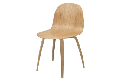 2D Wood-base Dining Chair Gubi Wood Oak