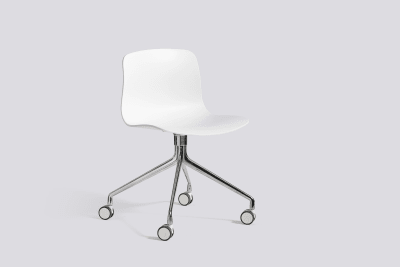 About A Chair AAC14 White, Polished Aluminium