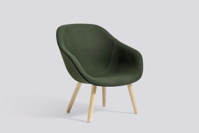 About A Lounge Chair AAL82, Matt Lacquered Oak Legs Divina Melange 2 120