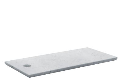 AC07 Cut Rectangular Cutting Board White Marble, Large