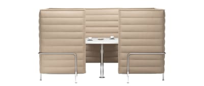 Alcove Cabin Highback Two-Seater Credo 11 cream/dolphin, 01 chrome