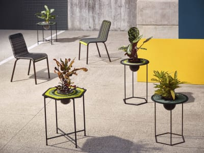 Ampoule Mandala Hex Side Table High, Fluo