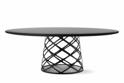 Aoyama Coffee Table Gubi Metal Black, 90 x 46 cm, Gubi Laminate White