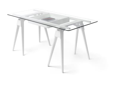Arco Desk Frame & Drawer White