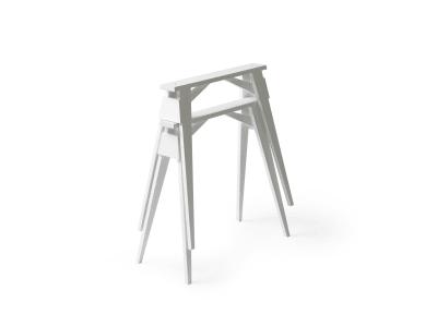 Arco Desk Tretles - Set of 2 White