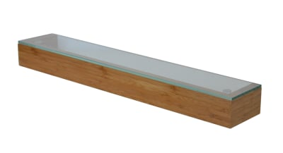 Arena Shelf with Glass Top