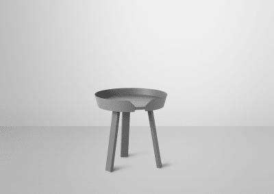 Around Small Coffee Table Dark Grey