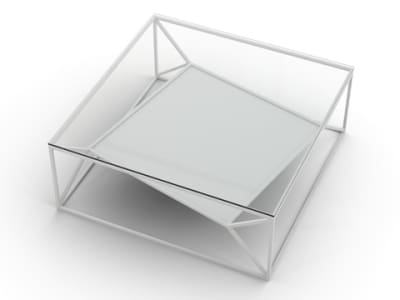 Arvo Coffee Table (Base only, glass can be ordered separately) White (Base only, glass top can be ordered separately)