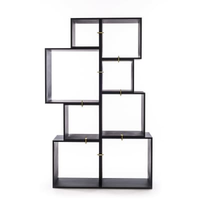 Assemblage Wooden Lacquered Modules Antracite