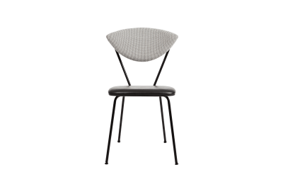 Avenue Dining Chair Outback 121, Black Leather