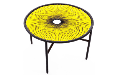 Banjooli Coffee Table Yellow and Black, Small