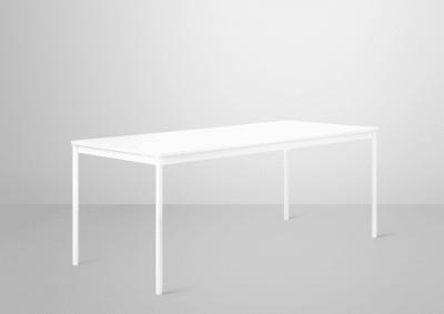 Base Rectangular Table, 160 x 80 Oak Veneer - Plywood edges