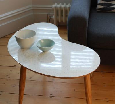 Bean Coffee Table Sparkled White
