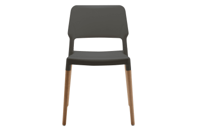 Belloch Dining Chair Grey with Wooden Legs
