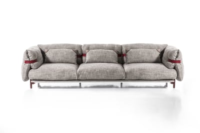 Belt 3 Seater Sofa A3379 - Coda 2 100 white, 300, Anthracite grey, 3 cushions