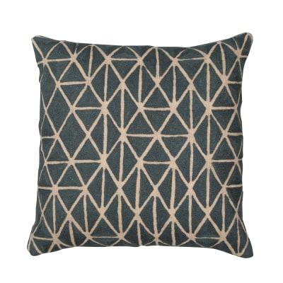 Berber Cushion Slate & Natural Linen