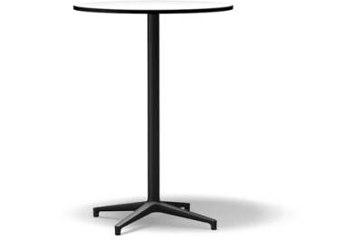 Bistro Stand-up Round table, Outdoor basic dark laminate white, 79.6