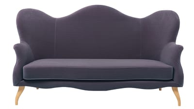 Bonaparte Sofa Balder 3 132, Gubi Wood Black Stained Beech