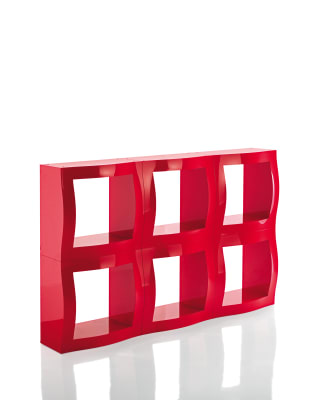 Boogie Woogie Shelving System - Set of 2 Red, No