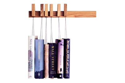 Book Rack  Oak, Dark Brown, Small