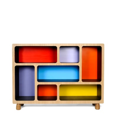 Boulder Display Unit  Red, Blue, Yellow, TALL