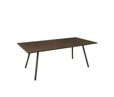 Bridge Rectangular Table Indian Brown