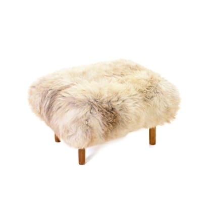 Bronwen Sheepskin Footstool  Rare Breed