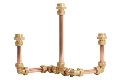 Candelabra Three Candle Holder Copper