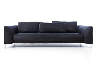 Canvas Sofa Macchedil Grezzo Black indigo, 260cm