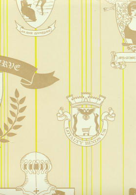 Carpe Noctem Wallpaper Lime, Gold