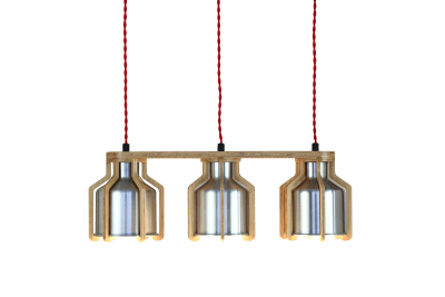 Cell Triplet Chandelier Red
