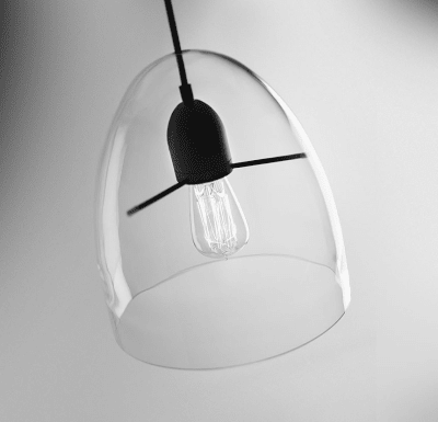 Centra S1 Pendant Light Transparent-Black, E27