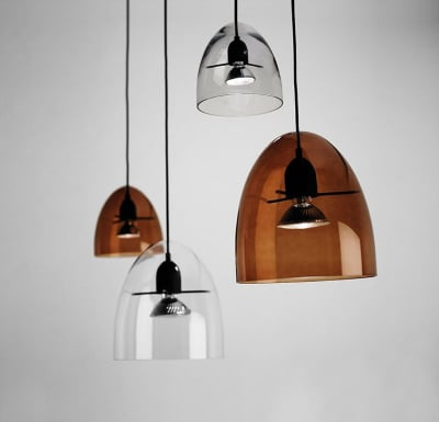 Centra S2 Pendant Light Transparent-Black, E27