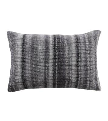 Chalet Glamour Cushion Grey, Darkgrey and Silver