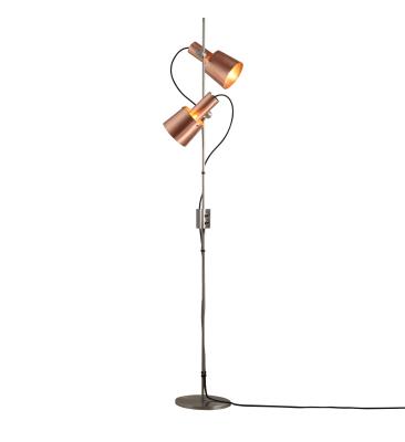 Chester Floor Lamp Satin Copper