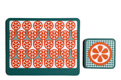 Coaster & Placemat Set  Oranges