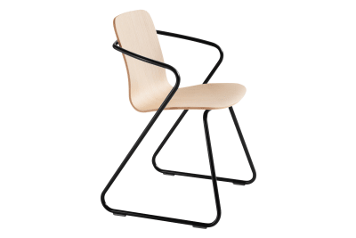 Cobra Dining Chair Oak and Signal Black