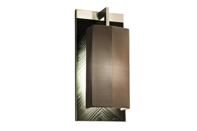 Coco Outdoor IP65 Wall Light Stainless steel/black marine wood