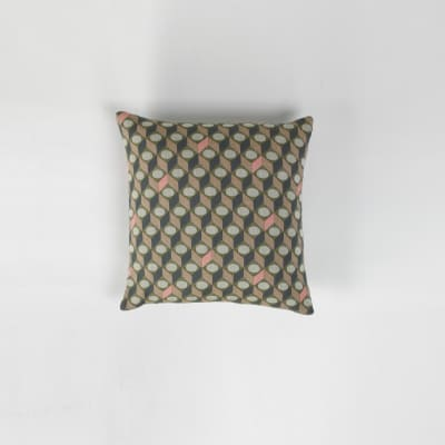 Cubes Square Cushion Green with Small Cubes