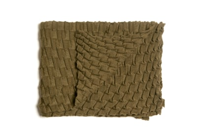 Curly Throw - set of 2 Green