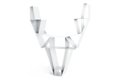 Deer Metal Shelf White, Small