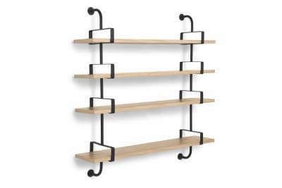Démon 4 Bookshelves Gubi Wood Oak, 155