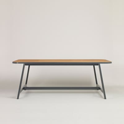 Dining Table Three Oak, Chamberlayne Grey, 200 cm Long