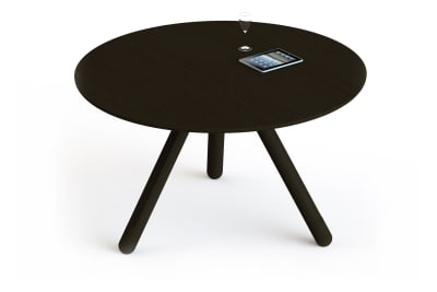 Disq Round Dining Table Clear Coated Oak