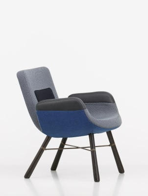 East River Chair Light Mix Credo 11-Tonus 07-Leather Premium 71-Hopsak 71, 04 dark oak protective vanish