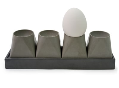 Eggfactory Concrete Egg Cup 4, Long