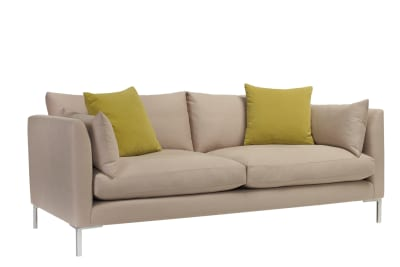 Ellis 3 Seater Sofa Beige