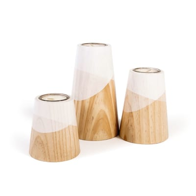 Etna Mini Candle Holders White