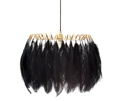 Feather Pendant Lamp Feather Pendant Lamp Black